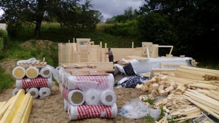 Photo 10 montage chalet bois chene stmb construction