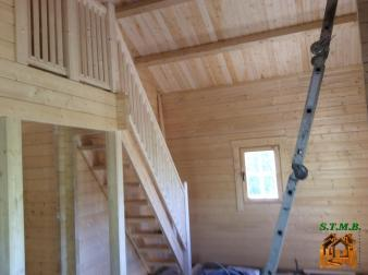 Photo 12 montage chalet en bois habitable versaille mezzanine stmb construction