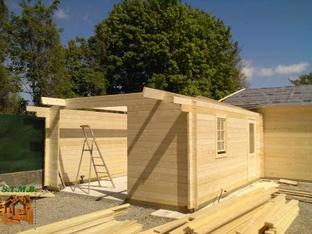 Photo 13 chalet en bois habitable garage stmb construction