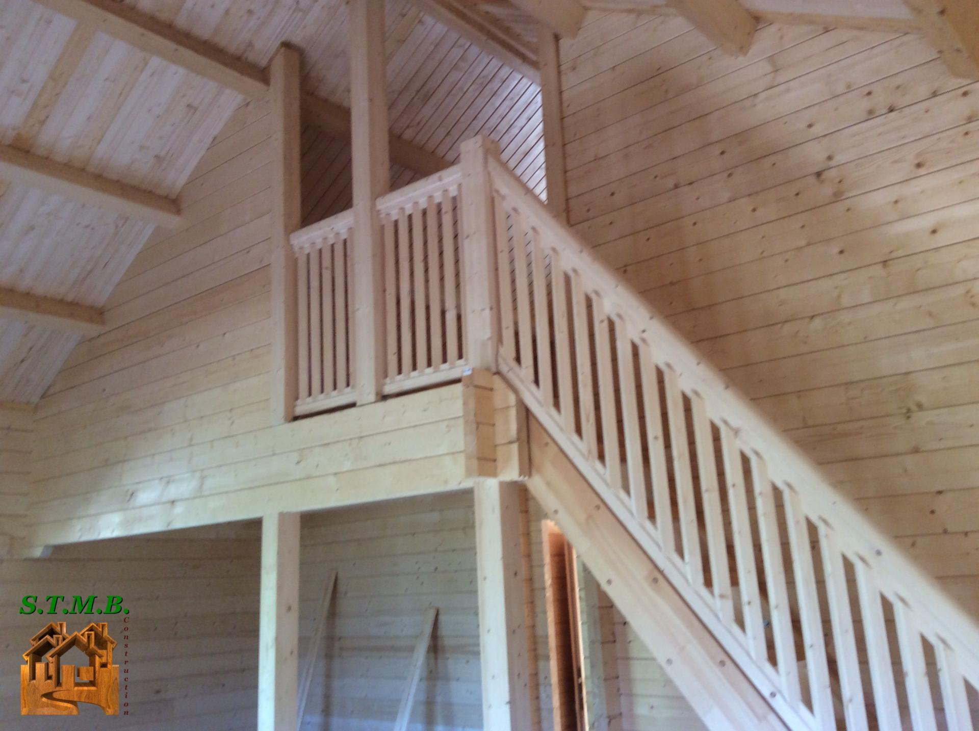 Photo 14 montage chalet en bois habitable versaille mezzanine stmb construction