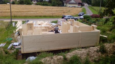 Photo 15 montage chalet bois chene stmb construction 1