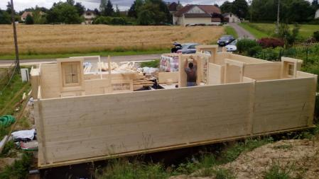 Photo 16 montage chalet bois chene stmb construction