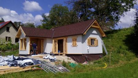 Photo 17 montage chalet bois chene stmb construction
