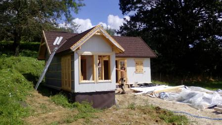 Photo 19 montage chalet bois chene stmb construction