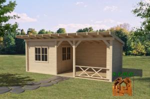 Photo 2 la cabane en bois la construction qui evolue dans le temps