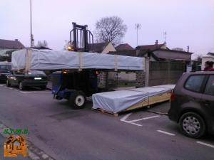 Photo 2 livraison chalet bois stmb construction