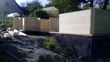 Photo 2 montage chalet bois chene stmb construction