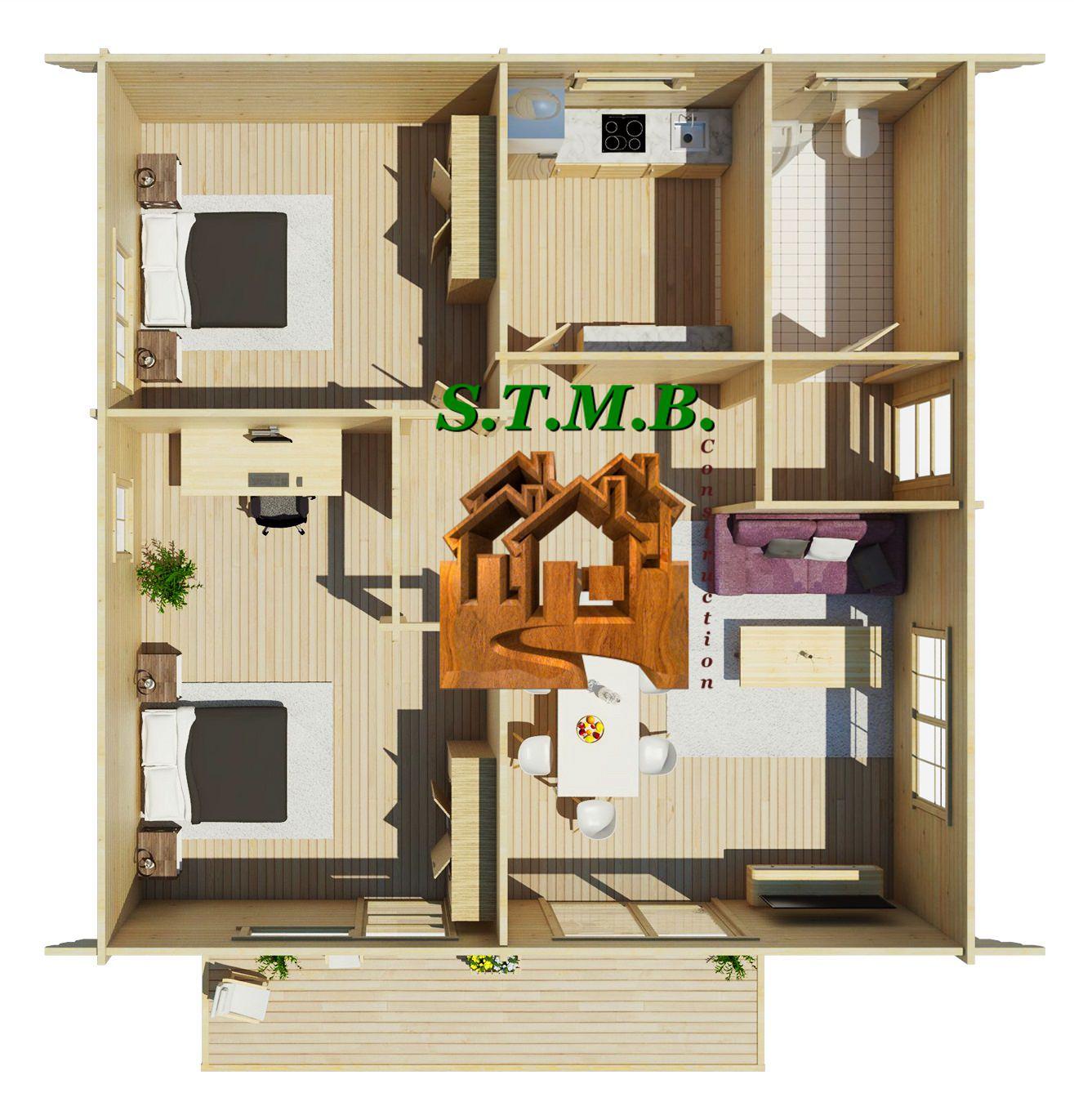 Une maison en bois comme maison d t for Fabrication d une maison en bois