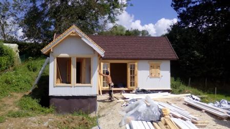 Photo 20 montage chalet bois chene stmb construction