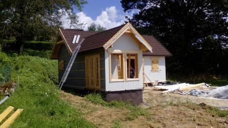 Photo 25 montage chalet bois chene stmb construction
