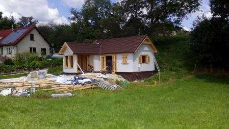 Photo 26 montage chalet bois chene stmb construction