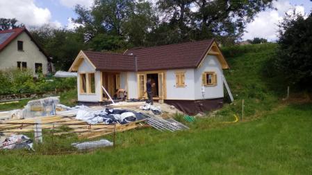 Photo 27 montage chalet bois chene stmb construction