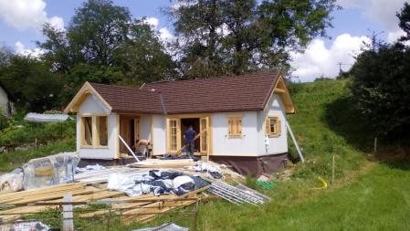 Photo 28 montage chalet bois chene stmb construction