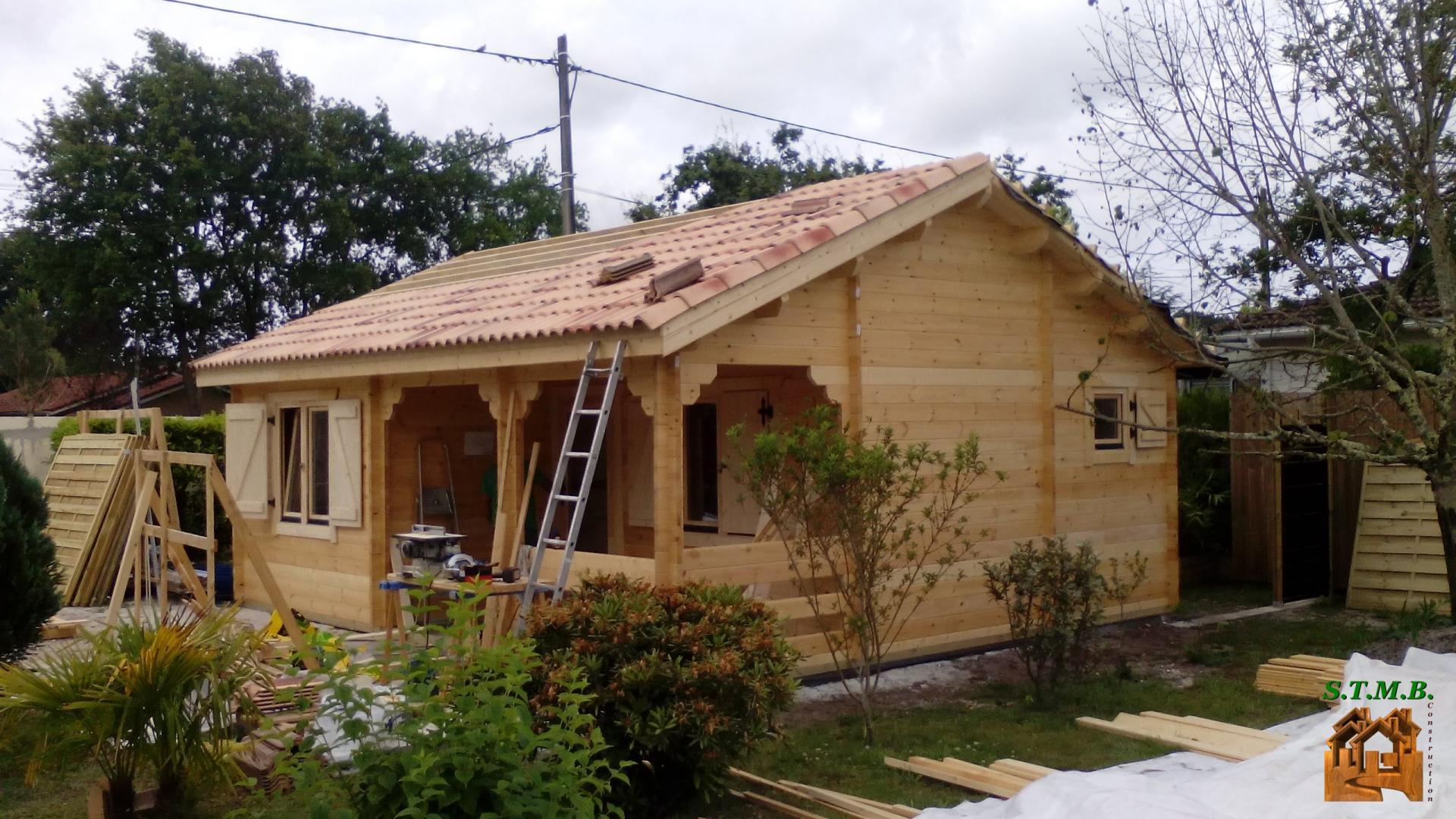 Constructeur Maison En Bois Limoges ▻chalet en bois habitable bordeaux 42 m2 | stmb construction