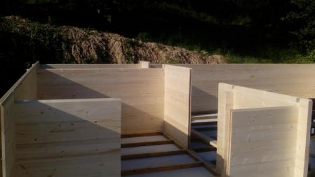Photo 3 montage chalet bois chene stmb construction