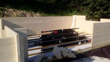 Photo 4 montage chalet bois chene stmb construction