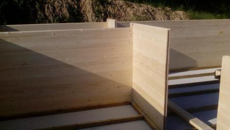 Photo 5 montage chalet bois chene stmb construction