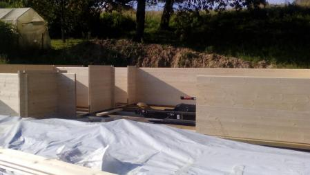 Photo 6 montage chalet bois chene stmb construction