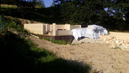 Photo 7 montage chalet bois chene stmb construction