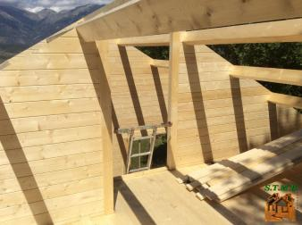 Photo 7 montage chalet en bois habitable versaille mezzanine stmb construction