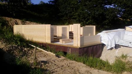 Photo 8 montage chalet bois chene stmb construction