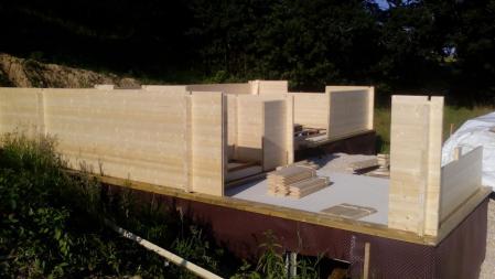 Photo 9 montage chalet bois chene stmb construction