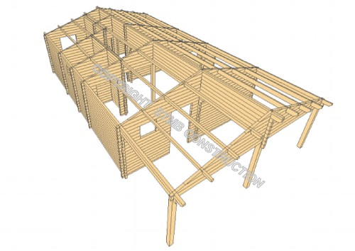 Photo chalet en bois habitable montpellier stmb construction