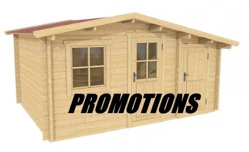chalet bois promotion
