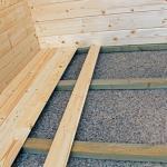 Photo option plancher chalet jardin bois stmb 5