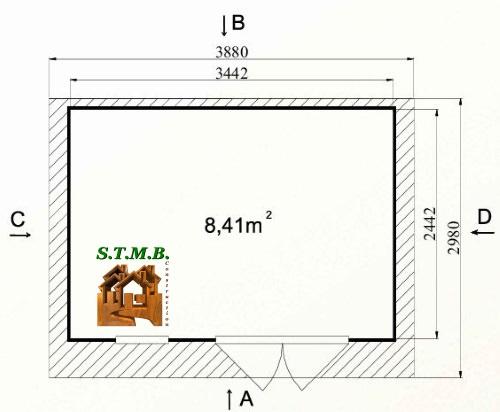 Photo plan 1 hd prod abri jardin kit tilleul 8m2 stmb