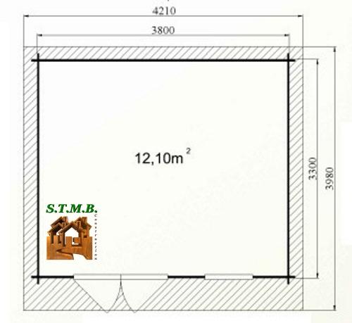 Photo plan abri jardin bouleau 14 stmb 1