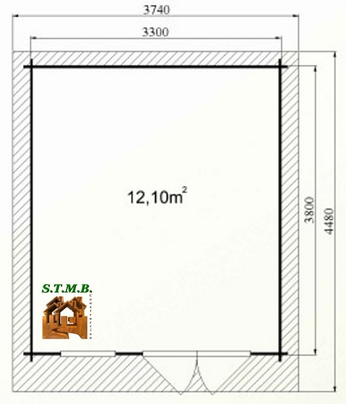 Photo plan abri jardin cedre 14 stmb construction