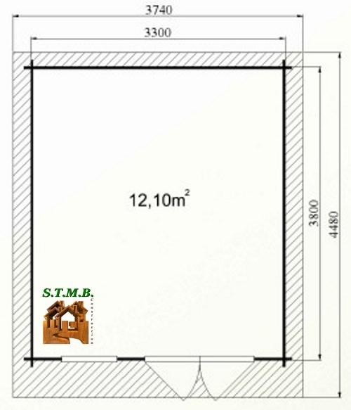 Photo plan abri jardin cedre 14 stmb construction