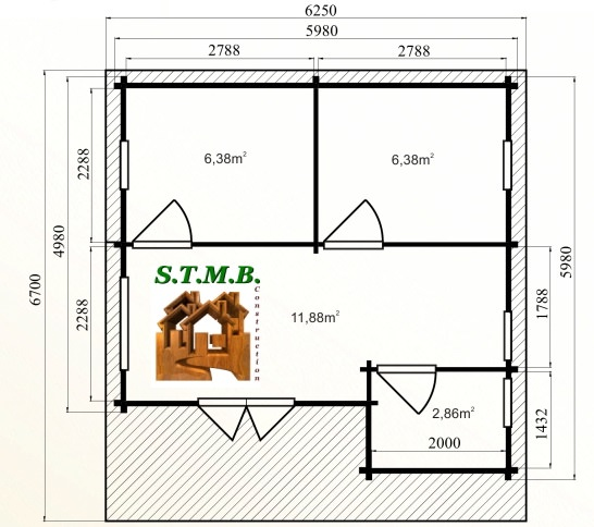 Photo plan chalet bois habitable mezzanine nice 40 stmb construction