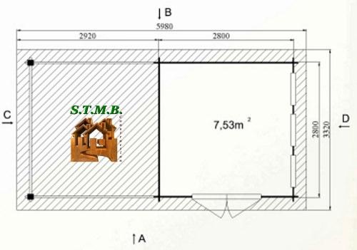 Photo plan hd prod chalet jardin toit plat aillas 17 stmb