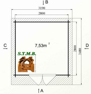 Photo plan hd prod kit abri jardin bois myrte 7m2 stmb