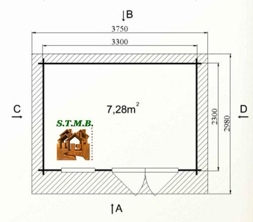 Photo plan hd prod kit abri jardin cedre 8 75m stmb