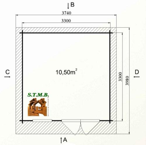Photo plan kit abri bois de jardin cedre 12 25m stmb construction
