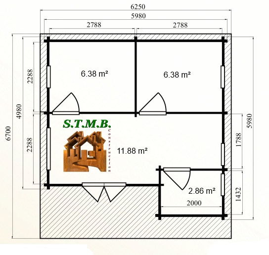 Photo plan kit chalet bois habitable celtis stmb construction