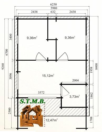 Photo plan kit chalet bois habitable fay 50 stmb construction