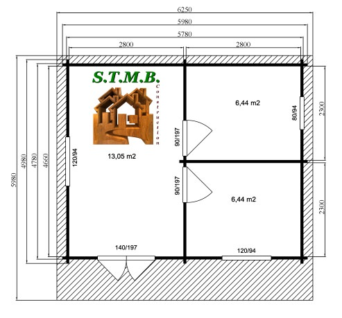 Photo plan kit chalet bois habitable vienne 30 stmb construction