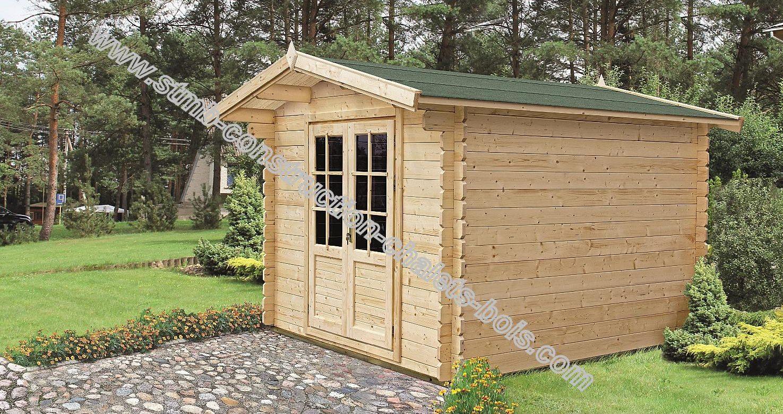 Chalet de jardin bois en madriers de 34 mm mod le colza 5 for Petit chalet en bois de jardin