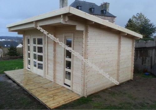 chalet ou bureau de jardin en bois mod le sydni mini 19 stmb construction. Black Bedroom Furniture Sets. Home Design Ideas