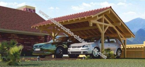 Photo1 kit abri voitures bois ventoux 39 m2