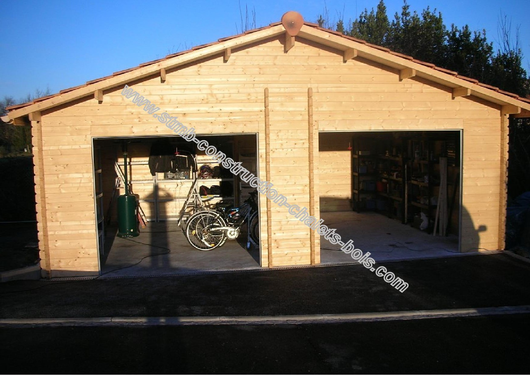 Garage 2 places twix m2 en kit livraison comprise for Fabricant garage bois en kit