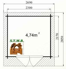 Plan abri jardin coton 6 stmb construction