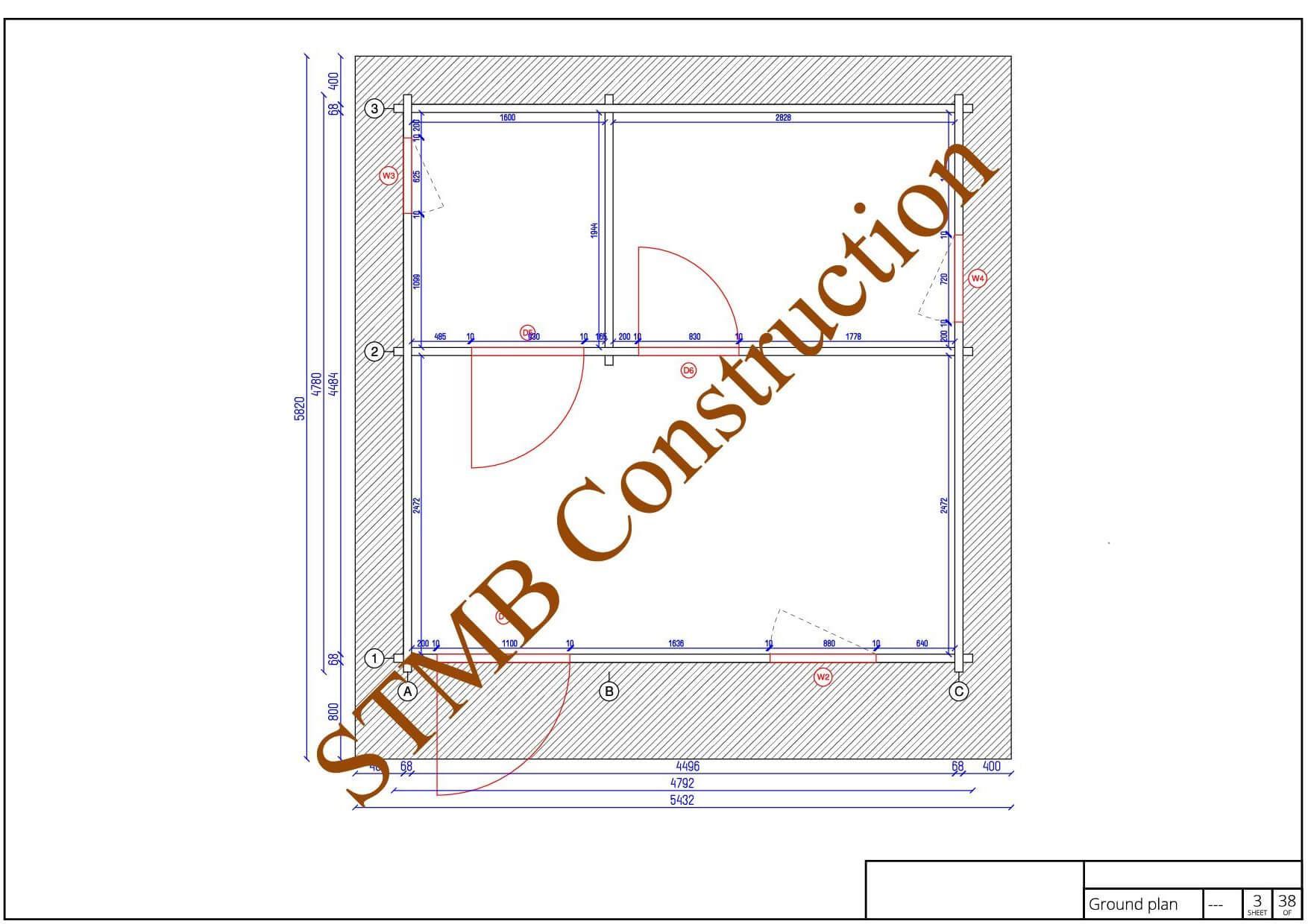 Plan chalet bois murat 23 sbc stmb construction