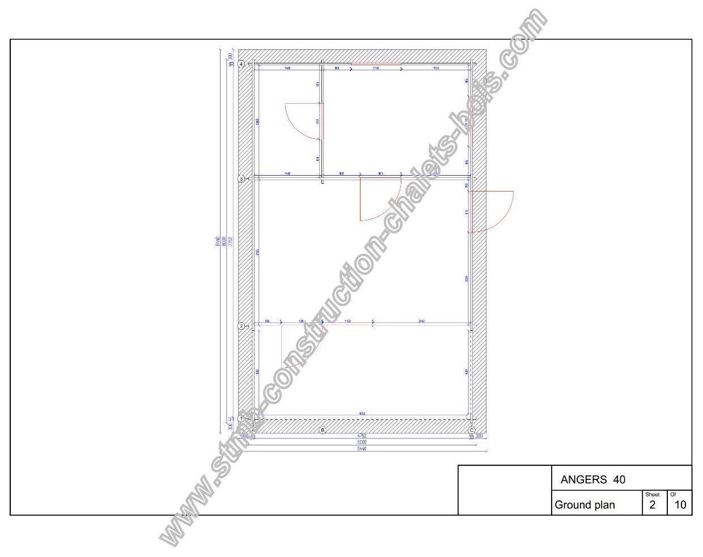 Plan hd bureau jardin angers 40 m2