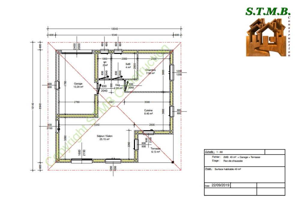 Plan maison bois 49m2 stmb construction optimized
