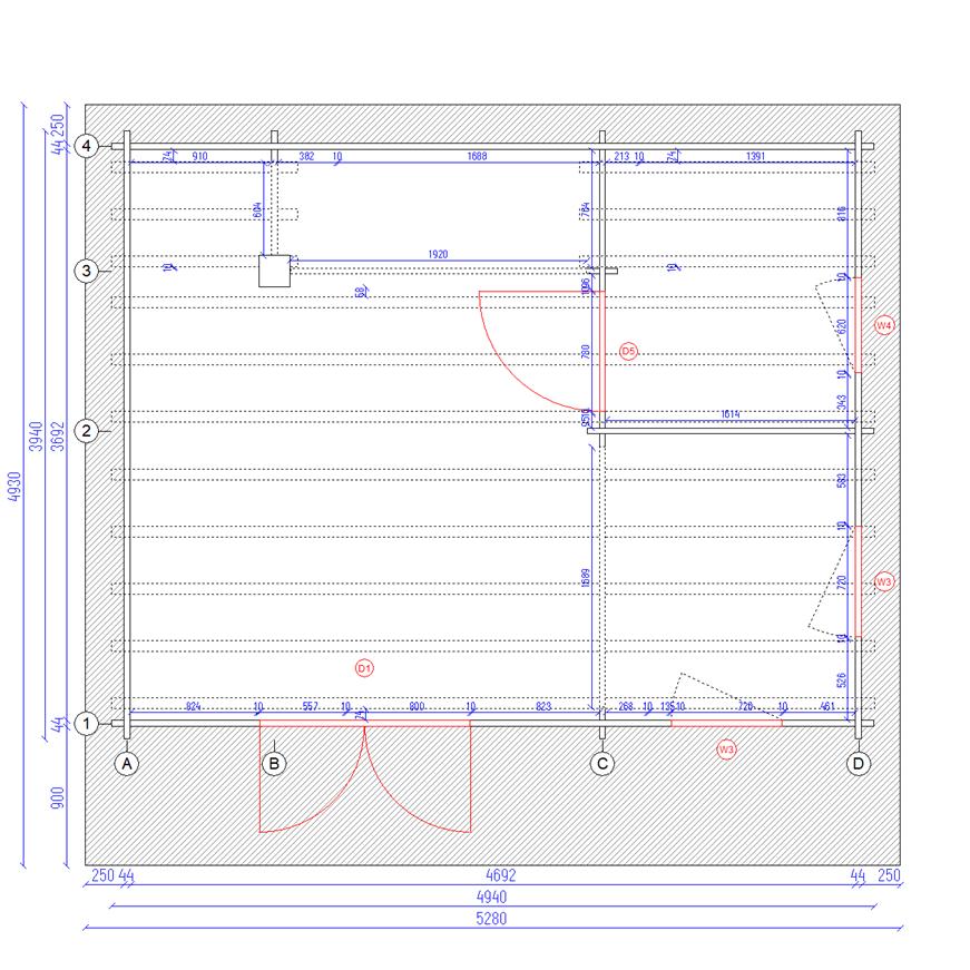 Plan rdc chalet en bois mezzanine cournon 20msb stmb construction